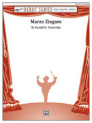 Cover icon of Marzo Zingaro sheet music for concert band (full score) by Randall D. Standridge, intermediate
