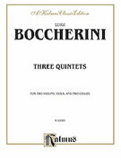 Cover icon of Three Quintets (COMPLETE) sheet music for string quintet by Luigi Boccherini