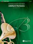 Cover icon of Jubilant Horizons sheet music for concert band (full score) by Patrick Roszell, intermediate