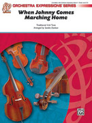 Cover icon of When Johnny Comes Marching Home (COMPLETE) sheet music for string orchestra by Anonymous and Sandra Dackow, intermediate