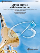 Cover icon of At the Movies with James Horner (COMPLETE) sheet music for concert band by James Horner and Justin Williams