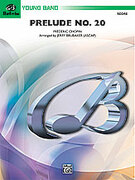 Cover icon of Prelude No. 20 sheet music for concert band (full score) by Frederic Chopin