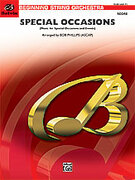 Cover icon of Special Occasions (COMPLETE) sheet music for string orchestra by Anonymous and Bob Phillips