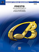 Cover icon of Presto (COMPLETE) sheet music for string orchestra by Ludwig van Beethoven and Tim McCarrick