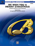 Cover icon of We Wish You a Merry Christmas (COMPLETE) sheet music for full orchestra by Anonymous, classical score, intermediate skill level
