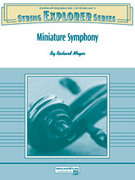 Cover icon of Miniature Symphony sheet music for string orchestra (full score) by Richard Meyer
