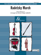 Cover icon of Radetzky March sheet music for full orchestra (full score) by Johann Strauss, classical score, easy