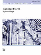 Cover icon of Sunridge March sheet music for concert band (full score) by Steve Hodges