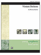 Cover icon of Western Horizons sheet music for concert band (full score) by Thomas Kahelin