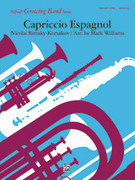 Cover icon of Capriccio Espagnol (COMPLETE) sheet music for concert band by Nikolai Rimsky-Korsakov, Nikolai Rimsky-Korsakov and Mark Williams
