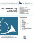 Cover icon of The Grand Old Flag (COMPLETE) sheet music for concert band by George Cohan, George Cohan and John Kinyon, beginner skill level
