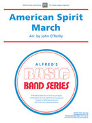 Cover icon of American Spirit March sheet music for concert band (full score) by Anonymous and John O'Reilly, beginner