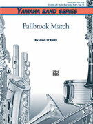 Cover icon of Fallbrook March sheet music for concert band (full score) by John O'Reilly, beginner skill level