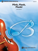 Cover icon of Plink, Plank, Plunk! (COMPLETE) sheet music for string orchestra by Leroy Anderson, intermediate skill level