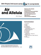 Cover icon of Air and Alleluia sheet music for concert band (full score) by Wolfgang Amadeus Mozart and John Kinyon, classical score, beginner skill level