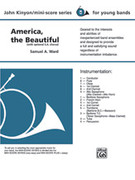 Cover icon of America, the Beautiful sheet music for concert band (full score) by Anonymous, beginner