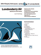 Cover icon of Londonderry Air, featuring the Clarinet section sheet music for concert band (full score) by Anonymous, classical score, beginner