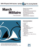 Cover icon of March Militaire (COMPLETE) sheet music for concert band by Franz Schubert and John Kinyon, classical score, beginner concert band