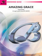 Cover icon of Amazing Grace (COMPLETE) sheet music for concert band by Anonymous and Jack Bullock