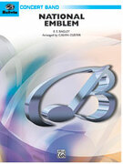 Cover icon of National Emblem sheet music for concert band (full score) by Anonymous and Calvin Custer, easy/intermediate skill level