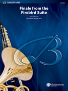 Cover icon of Finale from The Firebird Suite sheet music for concert band (full score) by Igor Stravinsky, classical score, easy/intermediate