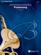 Cover icon of Prairiesong sheet music for concert band (full score) by Carl Strommen, easy/intermediate