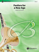 Cover icon of Fanfare for a New Age sheet music for concert band (full score) by Michael Story