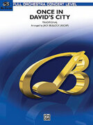 Cover icon of Once in David's City (COMPLETE) sheet music for full orchestra by Anonymous, intermediate skill level