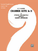 Cover icon of Chamber Suite in D sheet music for string orchestra (full score) by George Frideric Handel, George Frideric Handel and Samuel Applebaum