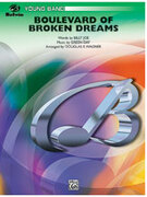 Cover icon of Boulevard of Broken Dreams sheet music for concert band (full score) by Green Day and Douglas E. Wagner, easy skill level
