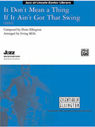 Cover icon of It Don't Mean a Thing If It Ain't Got That Swing sheet music for jazz band (full score) by Duke Ellington and Irving Mills