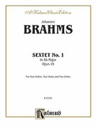 Cover icon of Sextet in B-Flat Major, Op. 18 (COMPLETE) sheet music for string sextet by Johannes Brahms