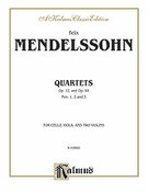 Cover icon of String Quartets, Op. 12; Op. 44, Nos. 1, 2 and 3 (COMPLETE) sheet music for string quartet by Felix Mendelssohn-Bartholdy and Felix Mendelssohn-Bartholdy