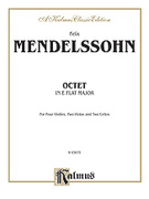 Cover icon of String Octet in E-Flat Major, Op. 20 (COMPLETE) sheet music for string octet by Felix Mendelssohn-Bartholdy and Felix Mendelssohn-Bartholdy, classical score, intermediate string octet