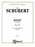 Cover icon of String Quintet in C Major, Op. 163 (COMPLETE) sheet music for string quintet by Franz Schubert, classical score, intermediate skill level