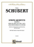 Cover icon of String Quartets, Volume I: Op. 29; Op. 125, Nos. 1 and 2; Op. Posth. in D Minor (COMPLETE) sheet music for string quartet by Franz Schubert, Ferdinand David and Carl Herrmann