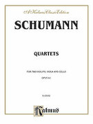 Cover icon of String Quartets, Op. 41, Nos. 1, 2 and 3 (COMPLETE) sheet music for string quartet by Robert Schumann
