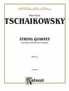 Cover icon of String Quartet in D Major, Op. 11 (COMPLETE) sheet music for string quartet by Pyotr Ilyich Tchaikovsky and Pyotr Ilyich Tchaikovsky, classical score, easy/intermediate skill level