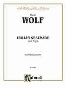 Cover icon of Italian Serenade (COMPLETE) sheet music for string quartet by Hugo Wolf