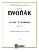 Cover icon of Quintet in G Major, Op. 77 (COMPLETE) sheet music for string quintet by Antonin Dvorak