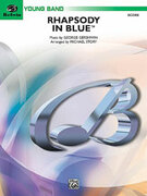 Cover icon of Rhapsody in Blueu (COMPLETE) sheet music for concert band by George Gershwin and Michael Story