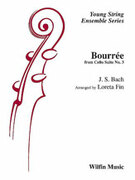Cover icon of Bourree sheet music for string orchestra (full score) by Anonymous and Loreta Fin
