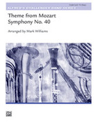 Cover icon of Theme from Mozart Symphony No. 40 (COMPLETE) sheet music for concert band by Wolfgang Amadeus Mozart and Mark Williams, classical score, intermediate concert band