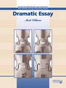 Cover icon of Dramatic Essay sheet music for string orchestra (full score) by Mark Williams