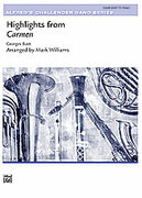 Cover icon of Highlights from Carmen (COMPLETE) sheet music for concert band by Georges Bizet and Mark Williams