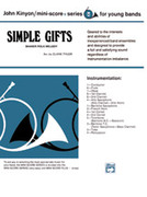 Cover icon of Simple Gifts, Shaker Folk Tune (COMPLETE) sheet music for concert band by Anonymous and Clark Tyler