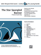 Cover icon of The Star Spangled Banner (COMPLETE) sheet music for concert band by Anonymous and John Kinyon