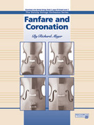 Cover icon of Fanfare and Coronation sheet music for string orchestra (full score) by Richard Meyer