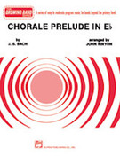 Cover icon of Chorale Prelude in E-Flat sheet music for concert band (full score) by Johann Sebastian Bach