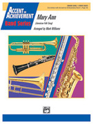 Cover icon of Mary Ann sheet music for concert band (full score) by Anonymous and Mark Williams, beginner